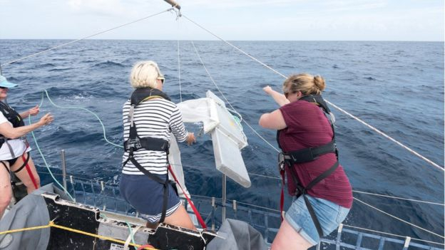 "Experienced sailor Emily Penn has set out with an all-female crew to investigate the world's largest accumulation of marine plastic. Her team will carry out scientific experiments on the ""Great Pacific Garbage Patch"", now said to be three times the size of France."
