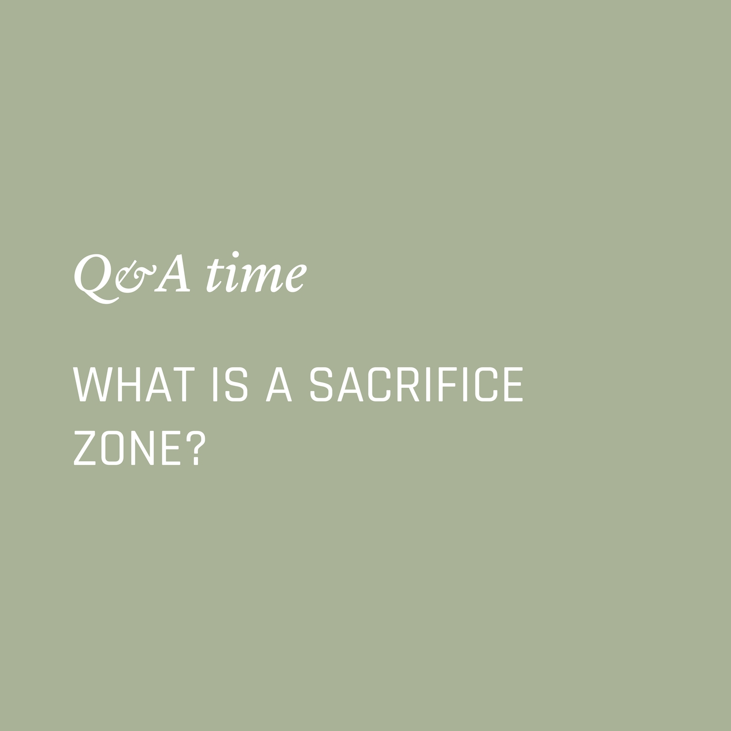 What is a sacrifice zone? Environment Environmental Questions FAQs Frequently Asked Questions Climate Change Plastics Oceans Animals Nowhere & Everywhere