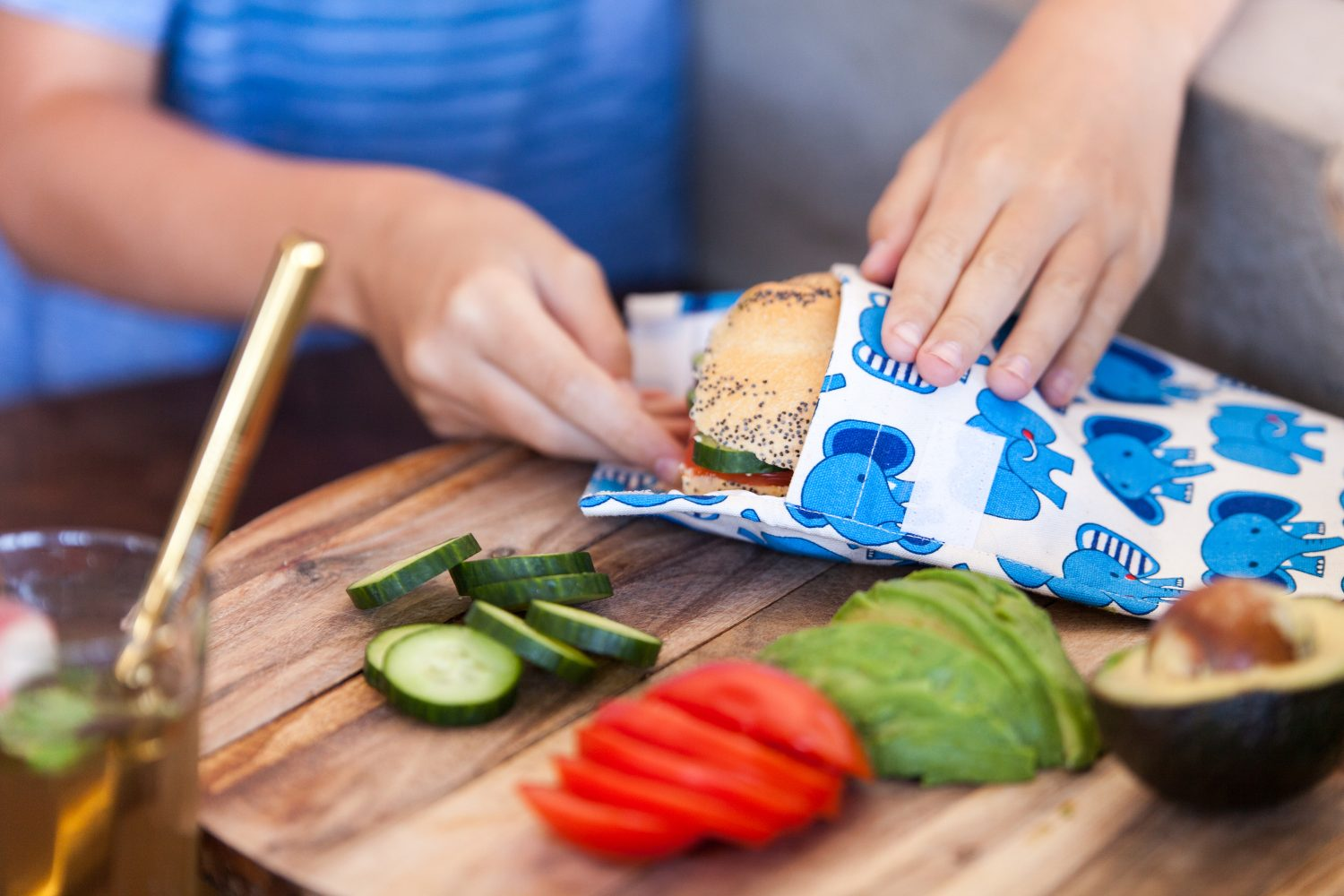 Nowhere & Everywhere Zero Waste Kits 100% Hemp Linen Recycled Food Pockets Sandwich Pouches Kitchen Plastic Free Products