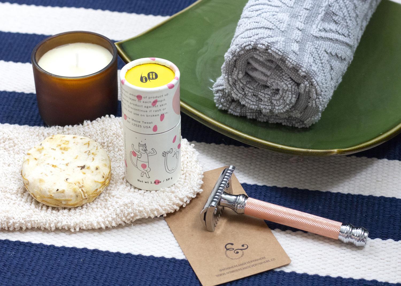 Unstuff your bathroom zero waste plastic free bathroom kit Nowhere & Everywhere gifts