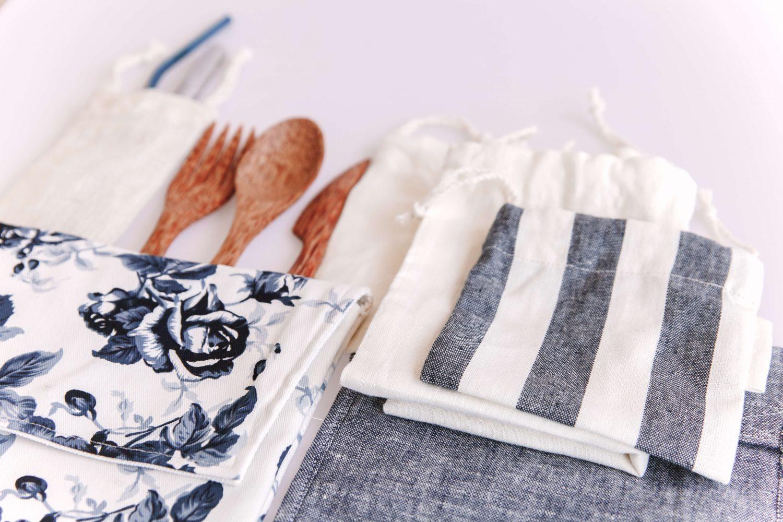 Zero Waste Carry Pouch Purse Bag Cutlery Straws Produce Bags Nowhere & Everywhere Zero Waste Kits Australia New Zealand UK America United States Ireland Europe