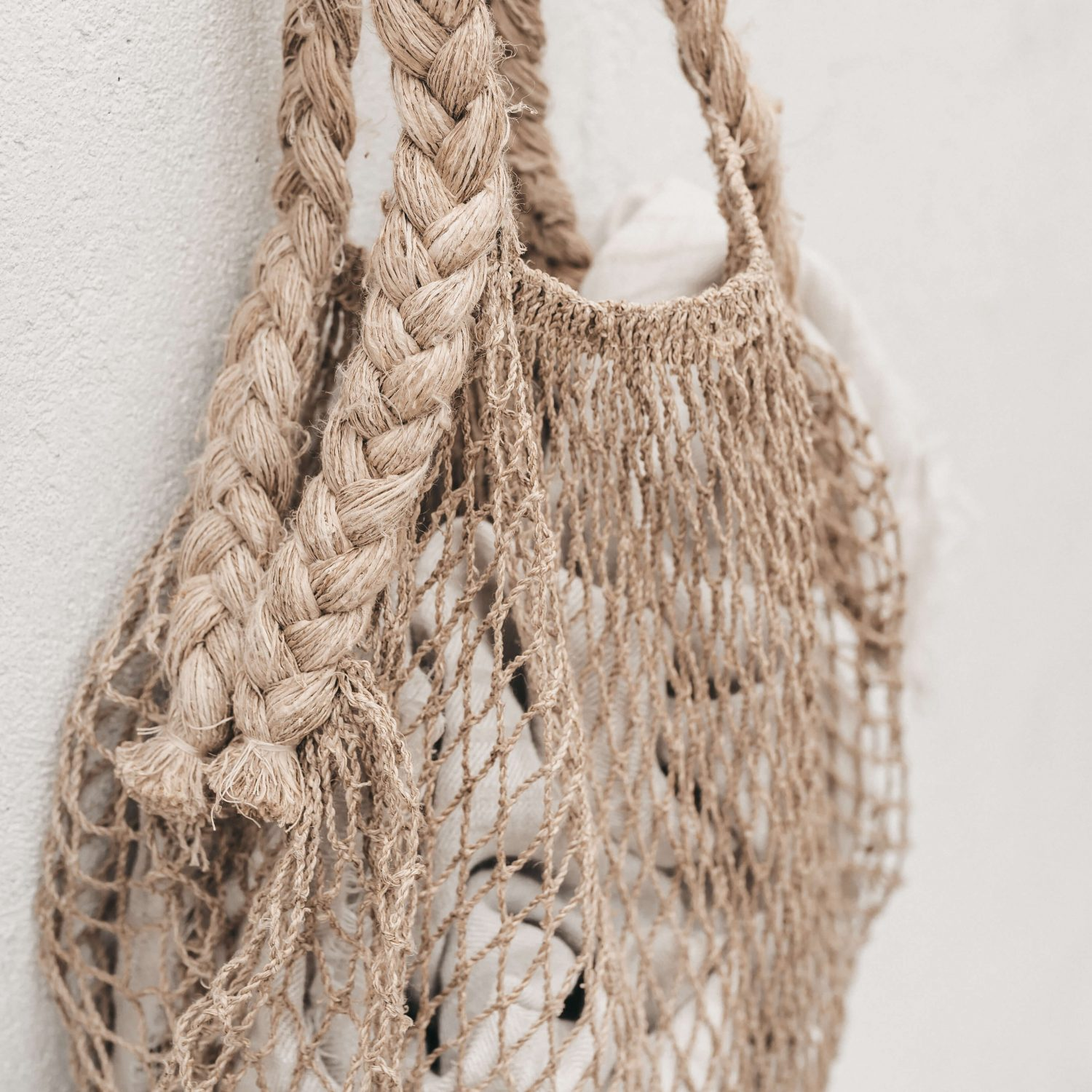 Nowhere & Everywhere Zero Waste 100% Hemp String Bag Braid Market Shopping Bag Plastic Free Eco-Friendly Ethical Labor Sustainable
