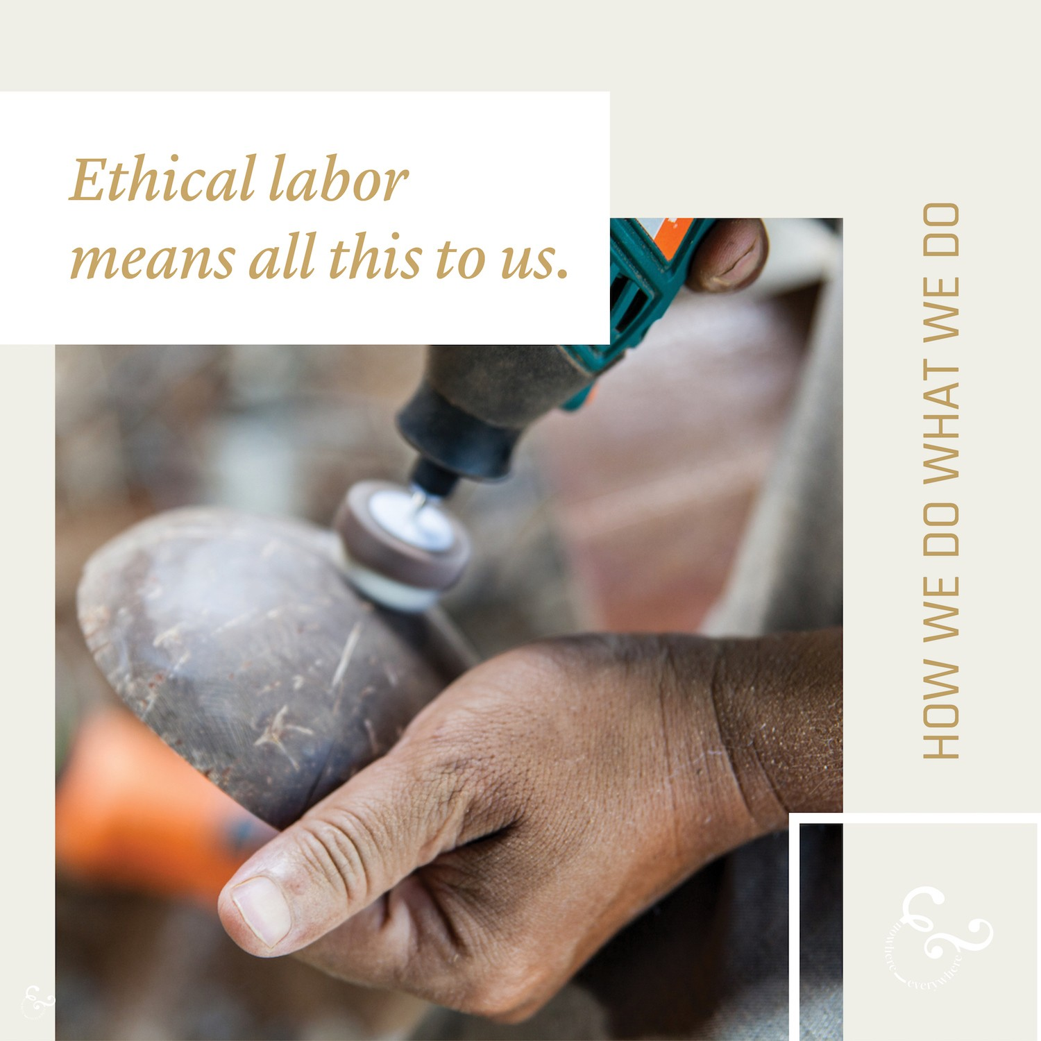 What we mean by ethical labor and what ethical labor means to us - Nowhere & Everywhere Ethical Sustainable Goods Products Australia UK USA New Zealand Canada The Netherlands Lisande Lis Dingjan
