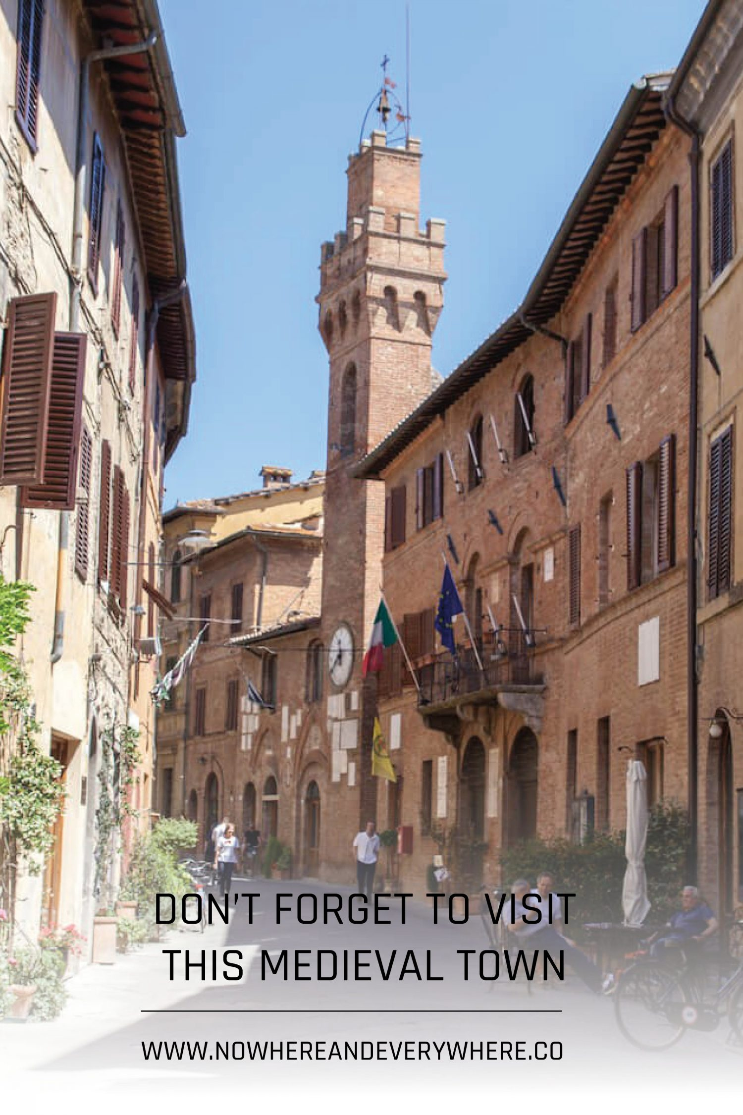 The beautiful, medieval town of Buonconvento Nowhere & Everywhere Sustainable Travel