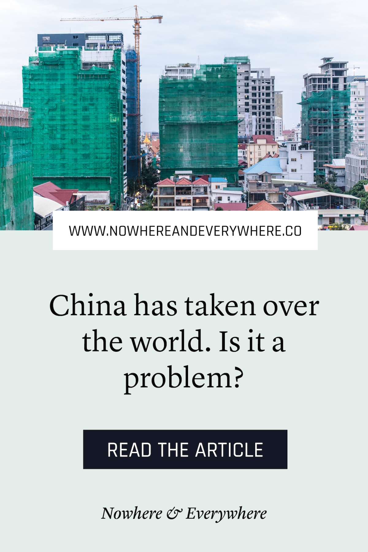 The great Chinese takeover of everywhere Nowhere & Everywhere Sustainable Travel