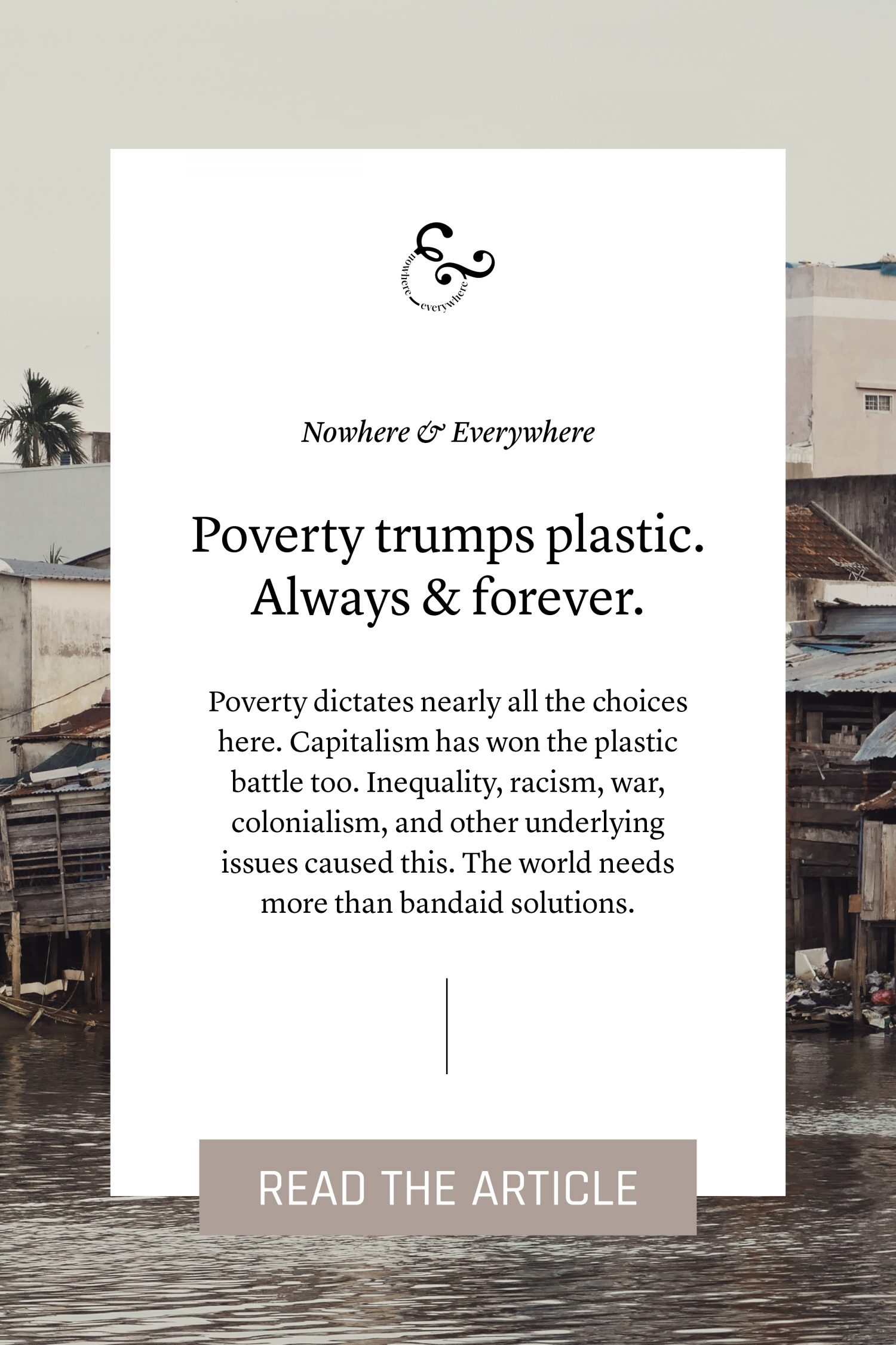 Poverty trumps plastic Nowhere & Everywhere Sustainable Travel