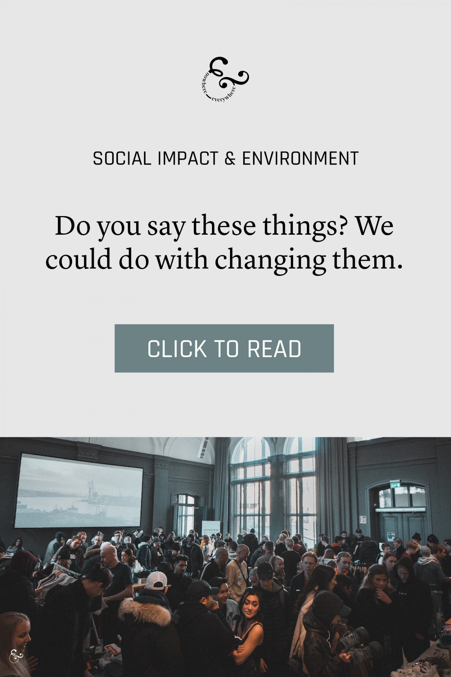 Our language in the environment and social impact space could use some work Nowhere & Everywhere Sustainable Travel