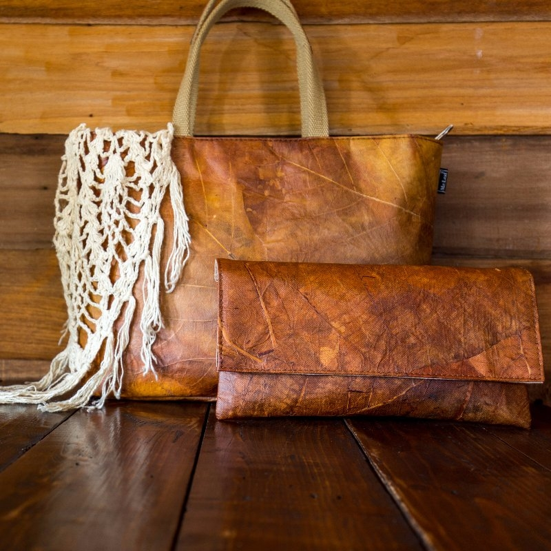 Sustainable Vegan Plant Based Faux Leathers - Nowhere & Everywhere - Alternative Leather Guide - Teak Palm Leaf Leather